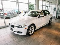 Certified. Clean CARFAX. Alpine White 2015 BMW 3 Series