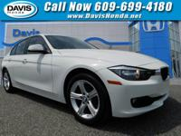 White 2015 BMW 3 Series 320i RWD 8-Speed Automatic 2.0L