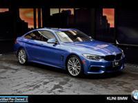 BMW Certified, ONLY 22,390 Miles! 428i trim. EPA 34 MPG