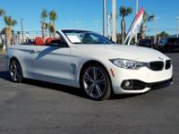 CARFAX One-Owner. Clean CARFAX. White 2015 BMW 4 Series