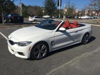 435i Convertible, M Sport, Alpine White w/ Red