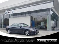 BMW CERTIFIED PRE OWNED, NAVIGATION, LEATHER, DROP THE