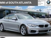 Certified. Glacier Silver Metallic 2015 BMW 4 Series