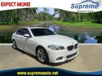 Clean CARFAX. White 2015 BMW 5 Series 528i RWD 8-Speed