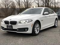 CARFAX One-Owner. Clean CARFAX. Alpine White 2015 BMW 5