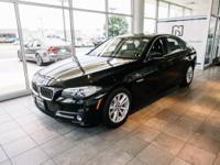 Certified. Clean CARFAX. Jet Black 2015 BMW 5 Series