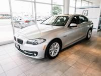 Certified. Glacier Silver Metallic 2015 BMW 5 Series