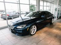 Certified. Deep Sea Blue Metallic 2015 BMW 6 Series