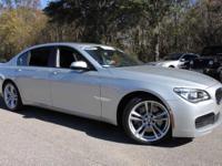 This 2015 BMW 7 Series 750Li in Glacier Silver Metallic
