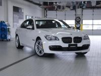 2015 BMW 7 Series 750Li xDrive Alpine White Driving