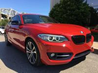 CARFAX One-Owner. Clean CARFAX. Red 2015 BMW 2 Series