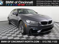 """CARFAX One-Owner. Clean CARFAX. Certified. 2015 BMW M4"