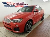 Clean CARFAX. Red 2015 BMW X4 xDrive35i AWD 8-Speed