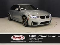 This Certified Pre-Owned 2015 BMW M3 Sedan has a