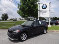 CARFAX One-Owner. Black Sapphire Metallic 2015 BMW X1
