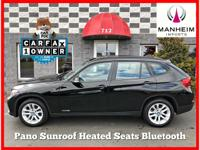 Panoramic Moonroof, Bluetooth Connection, 2015 BMW X1