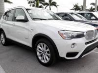 CARFAX One-Owner. Alpine White 2015 BMW X3 sDrive28i