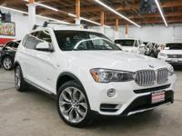 This 2015 BMW X3 4dr xDrive28d features a 2.0L I4 DOHC