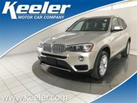 New Price! Certified. CARFAX One-Owner. 2015 BMW X3