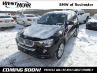 CARFAX One-Owner. Certified. Jet Black 2015 BMW X3