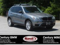 BMW Certified Pre-Owned! This 2015 BMW X3 xDrive28i is