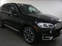 2015 BMW X5 Jet Black AWD  CARFAX One-Owner. Certified.
