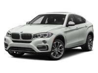 Solid and stately, this 2015 BMW X6 practically sings