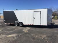 2015 Bravo enclosed car hauler. 24' X 8.5' X 6.5'. Used