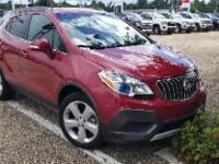 Certified. Ruby Red Metallic 2015 Buick Encore FWD