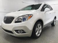 Options:  2015 Buick Encore Leather|White|Odometer Is