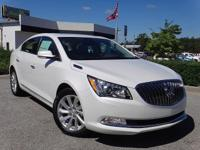 Certified. Summit White 2015 Buick LaCrosse Leather