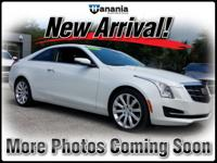 2015 Cadillac ATS 2.0L Turbo in Crystal White, Used.