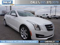 Here is an attractive Cadillac ATS in Crystal White