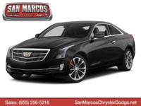 Boasts 28 Highway MPG and 18 City MPG! This Cadillac