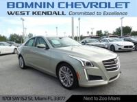 CARFAX One-Owner. Clean CARFAX. Silver 2015 Cadillac