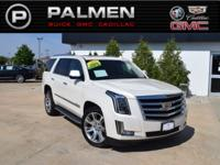 White Diamond Clearcoat 2015 Cadillac Escalade Luxury