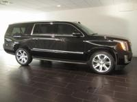 Options:  2015 Cadillac Escalade Esv Luxury|Black|Clean