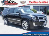 Premium trim. CARFAX 1-Owner, Cadillac Certified, GREAT