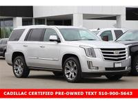 CADILLAC CERTIFIED PRE-OWNED CARFAX One-Owner. Clean