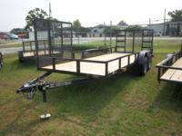 2015 Carolina Landscape; 7k lb Tandem Axle, Brake,