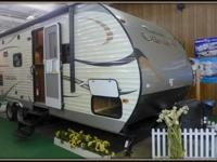 The 2015 Catalina 243RBS is a travel trailer that comes