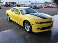 CARFAX One-Owner. Yellow 2015 Chevrolet Camaro 2LS RWD