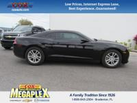 This 2015 Chevrolet Camaro 1LS in Black is well