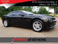 Come see this 2015 Chevrolet Camaro LS. Its Automatic