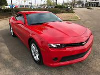 One-Owner! Red Hot, 2015 Chevrolet Camaro 1LT, 2D