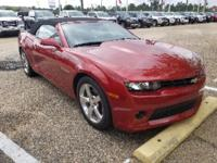 Certified. Crystal Red Tintcoat 2015 Chevrolet Camaro