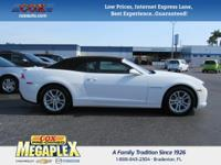 This 2015 Chevrolet Camaro 1LT in White is well