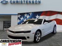 2015+Chevrolet+Camaro+1LT+In+Summit+White+*+CLEAN+VEHIC