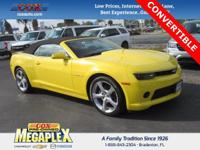 This 2015 Chevrolet Camaro 2LT in Bright Yellow is well