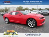 This 2015 Chevrolet Camaro 1LT in Red Hot is well